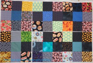 6 Food Quilt 9 Patches