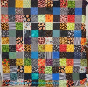 Food Quilt #3- 9 Patches