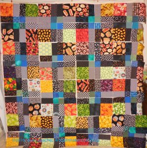 Food Quilt #3 - Blocks Cut