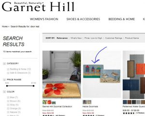 Garnet Hill Door Mat Inspiration