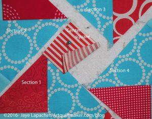 Partially sewn seam - detail