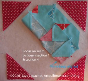 Fold center section up