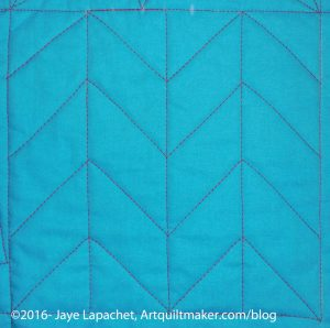 Machine Quilting Sampler: Chevron