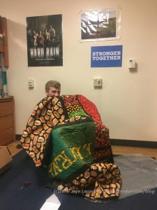 Nephew #11 with Food Quilt #3