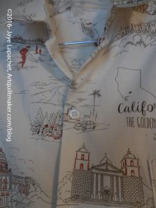 California Shirt button closure
