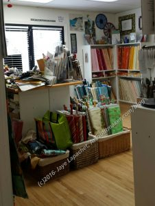 Sugar Pine Quilt Shop, looking towards front door