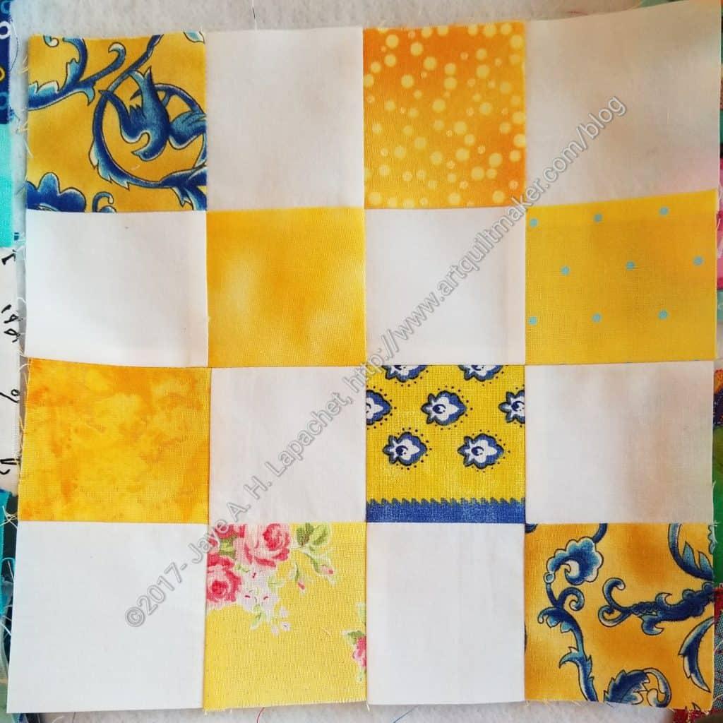 Yellow donation block