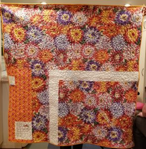 Mostly Manor Lozenge Quilt back