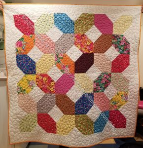 Mostly Manor Lozenge Quilt Finished!