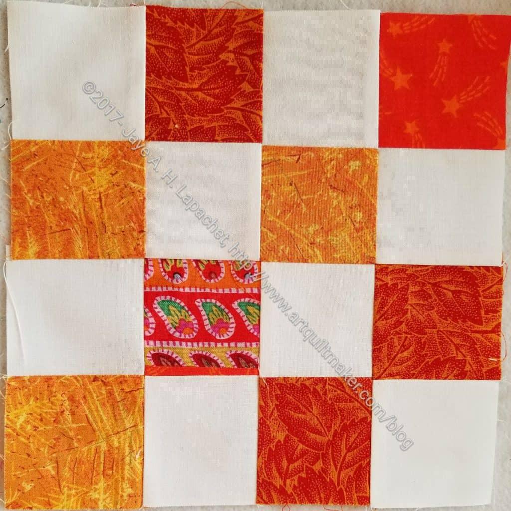Orange donation block