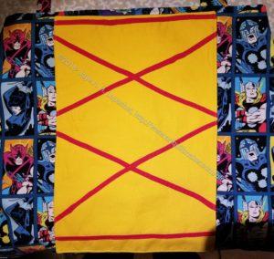 Superheroine apron - laceup front