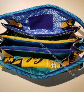 SIL #2's Sew Together Bag - inside, zippers closed