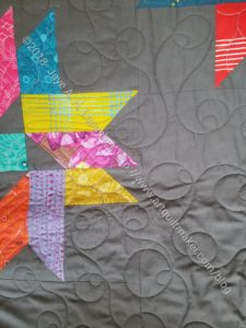 Triple Star quilted, not bound