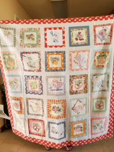 Mary C's Embroidered Tea Towel Quilt