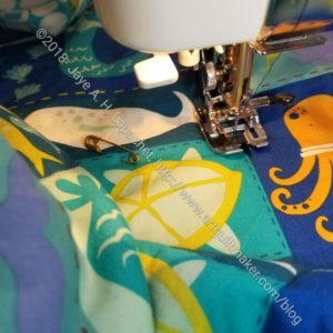 Quilting the Sea Life quilt