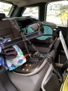 Cramming my stuff into the little car