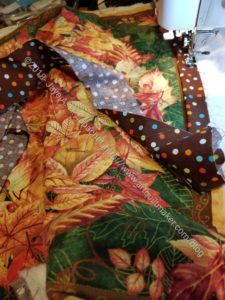 Thanksgiving tablemat quilting