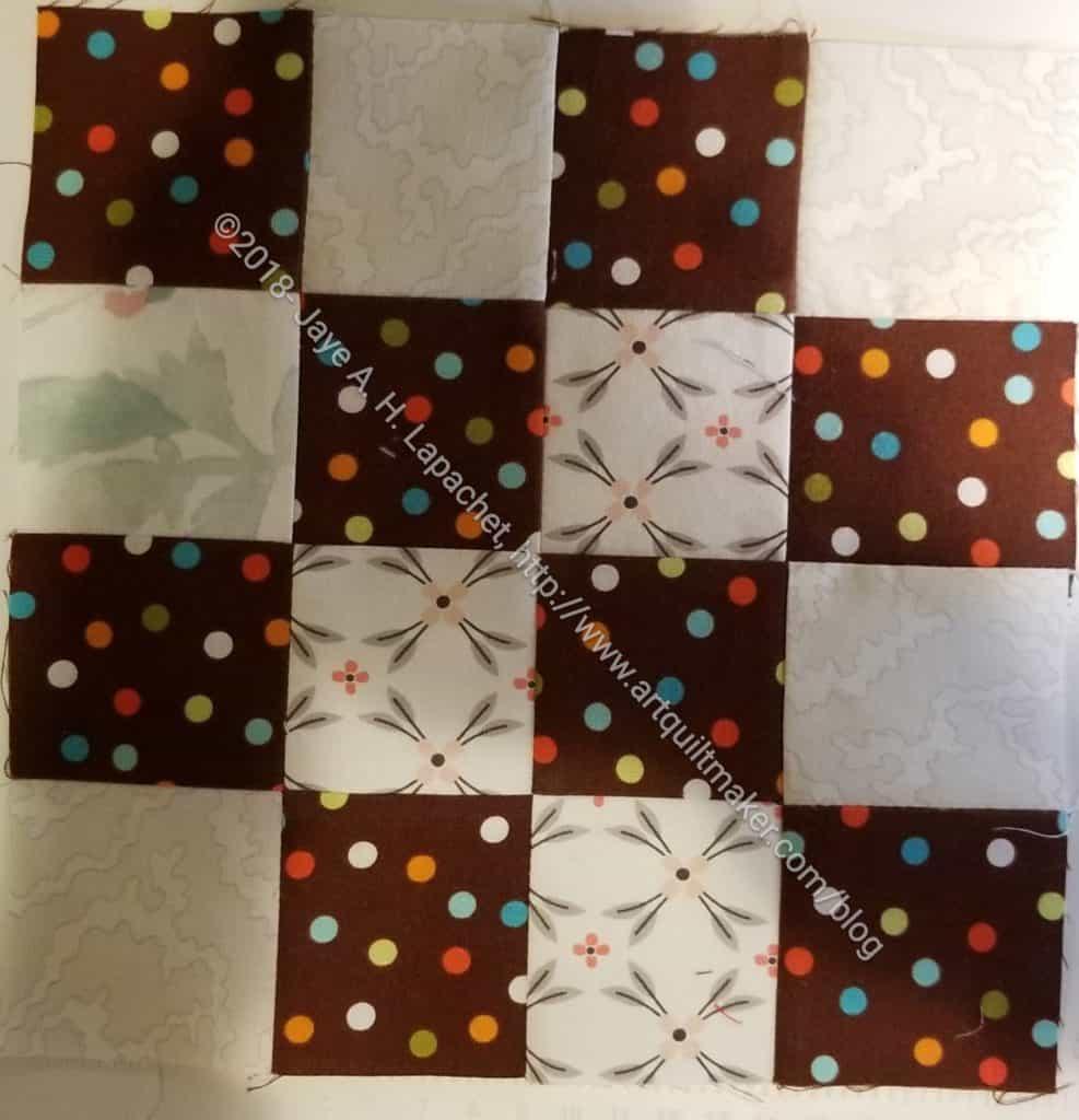 Chocolate dot donation block