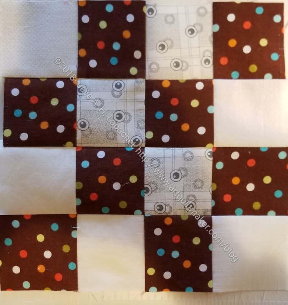 Chocolate + grey donation block