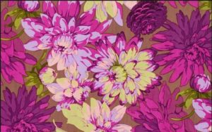Martha Negley Classics Dahlia Plum Cotton Fabric PWMN063