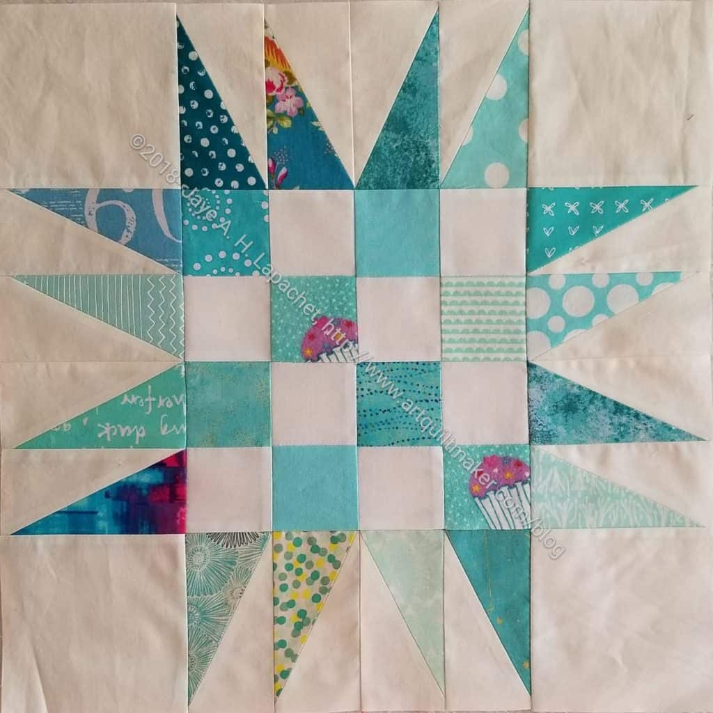 Spiky 16 Patch block 1, quilt 3