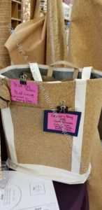 Mill End shop: cork grocery bag