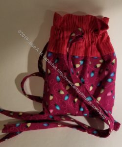 Gift bag, drawstring style