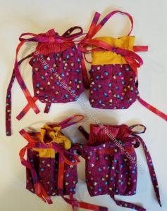 Finished Jeni Baker Drawstring Gift Bags - Snack sized