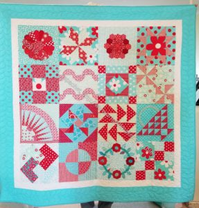 Aqua-Red Sampler finished