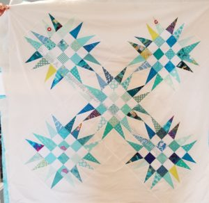 Spiky Star donation quilt n.3