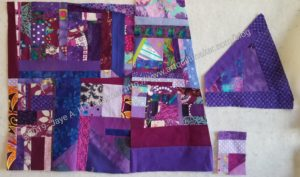 Purple Improv donation top in progress