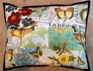 Under the Sea Pillow Finished- back