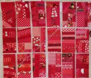 Current Red Strip Blocks n.2