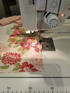 Sewing on Tim's machine