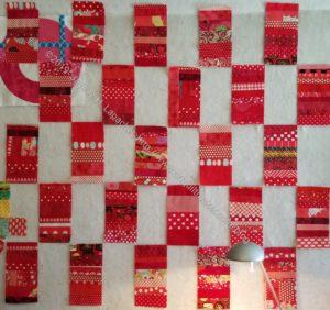Red Strip Donation Blocks - ready to set