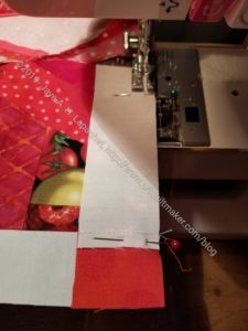 Pin blocks together, matching seams and sew