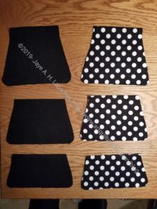 Solid Black and Dot Black Cell Phone Wallets in process