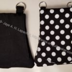 Solid Black and Dot Black Cell Phone Wallets - finished