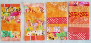 4 Orange Strip Donation blocks