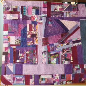 Purple Improv Donation Quilt