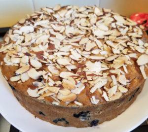Almond Rhubarb Cake