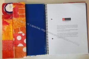 Orange Improv Journal Cover -inside front cover